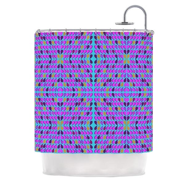 KESS InHouse Fernanda Sternieri Optical Paisley Purple Pink Shower Curtain (69x70)