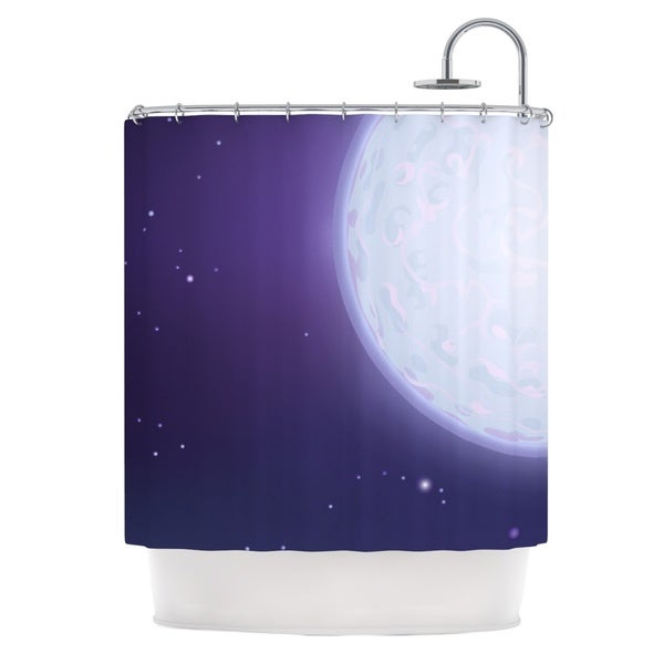 KESS InHouse Fotios Pavlopoulos Full Moon Night Sky Shower Curtain (69x70)