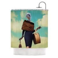 KESS InHouse Natt Passenger 1A Ostrich Shower Curtain (69x70)