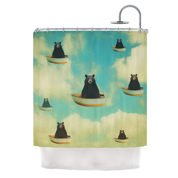 KESS InHouse Natt Bears Floating Animals Shower Curtain (69x70)