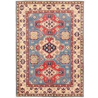 Herat Oriental Afghan Hand-knotted Vegetable Dye Kazak Wool Rug (5' x 7')