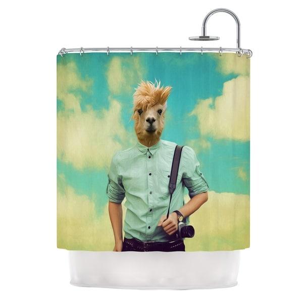 KESS InHouse Natt Passenger 1B Llama Shower Curtain 69x70