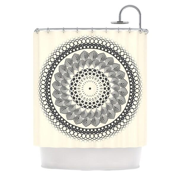 KESS InHouse Famenxt Black Amp White Boho Mandala Geometric Shower Curtain 69x70