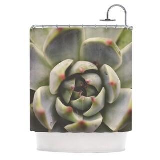KESS InHouse Debbra Obertanec Desert Succulent Green Shower Curtain (69x70)