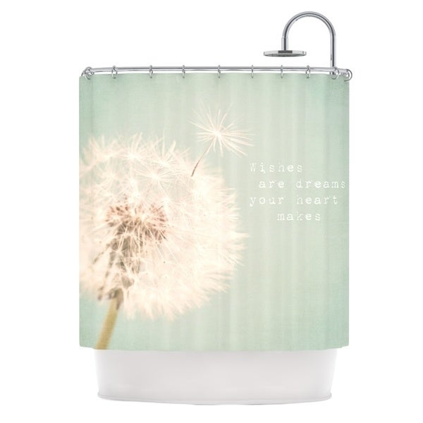 KESS InHouse Debbra Obertanec Wishes Are Dreams Fuzzy Shower Curtain (69x70)