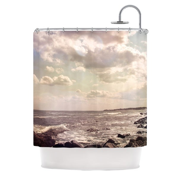 KESS InHouse Debbra Obertanec Rocky Coast Sea View Shower Curtain (69x70)