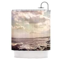 KESS InHouse Debbra Obertanec Rocky Coast Sea View Shower Curtain (69x70)