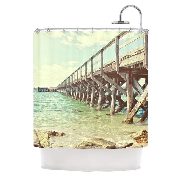 KESS InHouse Debbra Obertanec On The Pier Beach Shower Curtain (69x70)