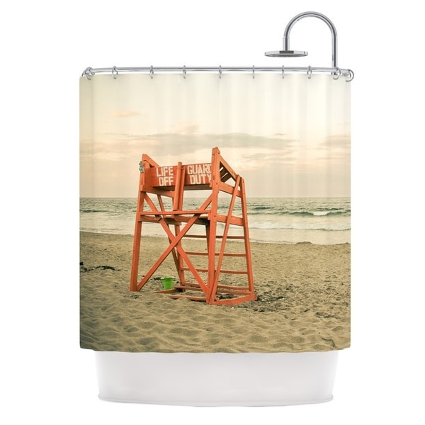 KESS InHouse Debbra Obertanec Dusk At the Beach Ocean Shower Curtain (69x70)