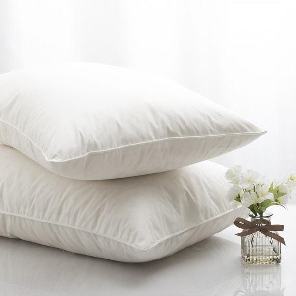 King Size White Goose Feather Goose Pillows (Set of 2)