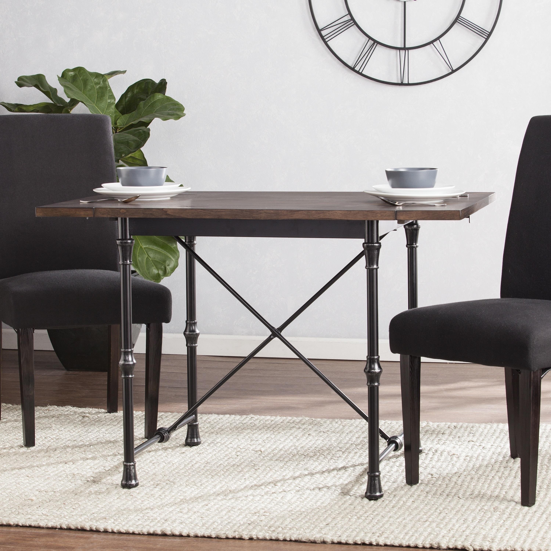 Carbon loft edelman industrial farmhouse drop leaf dining table