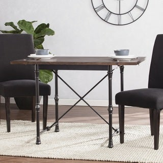 Carbon Loft Edelman Industrial/Farmhouse Drop-Leaf Dining Table