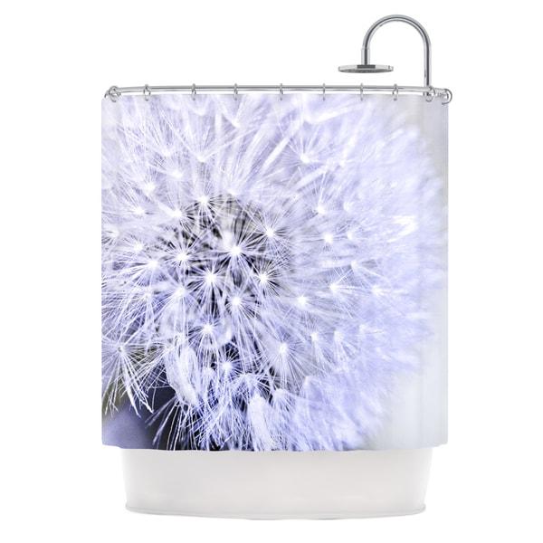 KESS InHouse Debbra Obertanec Lavender Wish Purple Flower Shower Curtain (69x70)