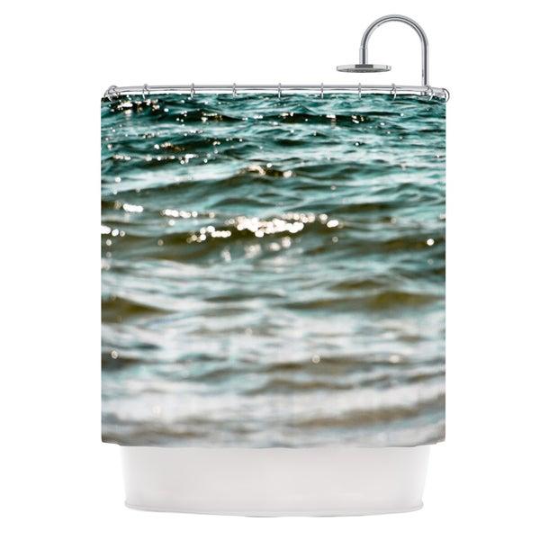 KESS InHouse Debbra Obertanec Turquoise Blue Green Water Shower Curtain (69x70)