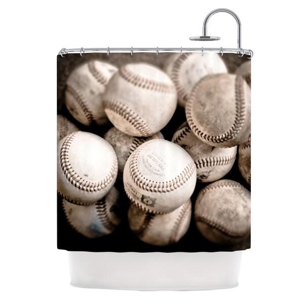 KESS InHouse Debbra Obertanec On the Mound Baseball Shower Curtain (69x70)