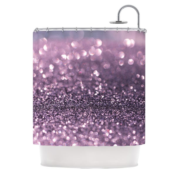 KESS InHouse Debbra Obertanec Lavender Sparkle Purple Glitter Shower Curtain (69x70)