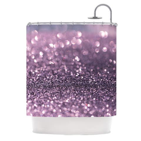 "Debbra Obertanec ""Lavender Sparkle"" Purple Faux Glitter Shower Curtain"