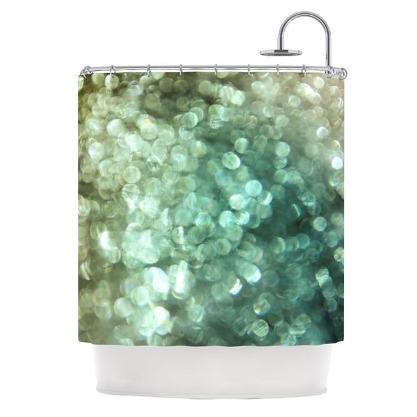 "Shop KESS InHouse Debbra Obertanec ""Teal Sparkle"" Green"