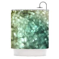 KESS InHouse Debbra Obertanec Teal Sparkle Green Glitter Shower Curtain (69x70)