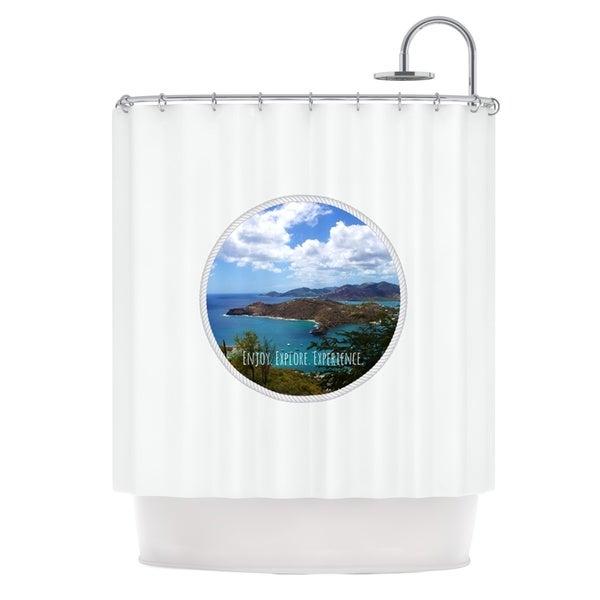 KESS InHouse Deepti Munshaw Enjoy Explore Experience Island Shower Curtain (69x70)
