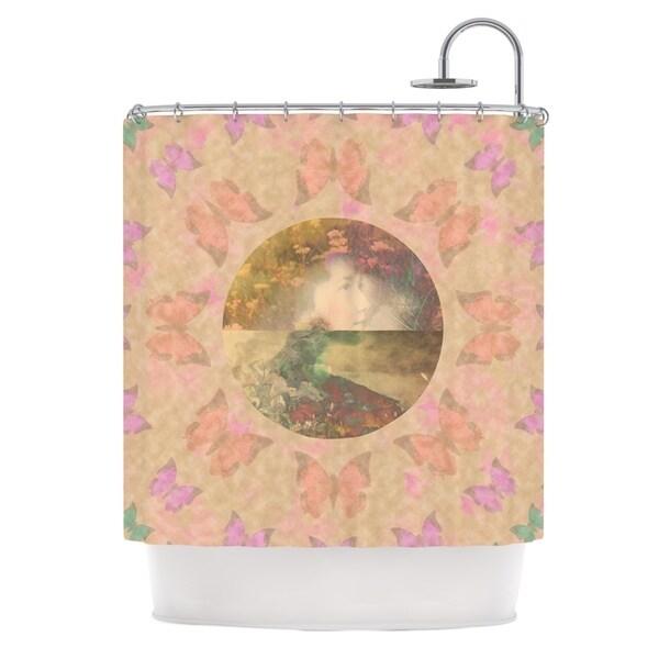 KESS InHouse Deepti Munshaw Rebirth Butterfly Circle Shower Curtain (69x70)