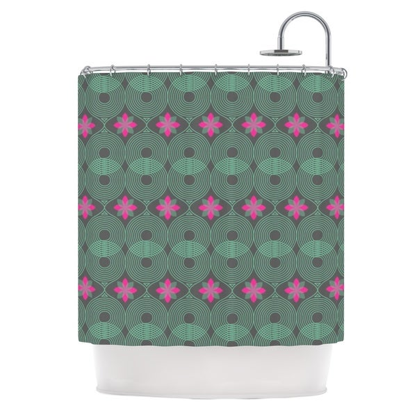 KESS InHouse Deepti Munshaw Chevron and Dots Rainbow Shower Curtain (69x70)