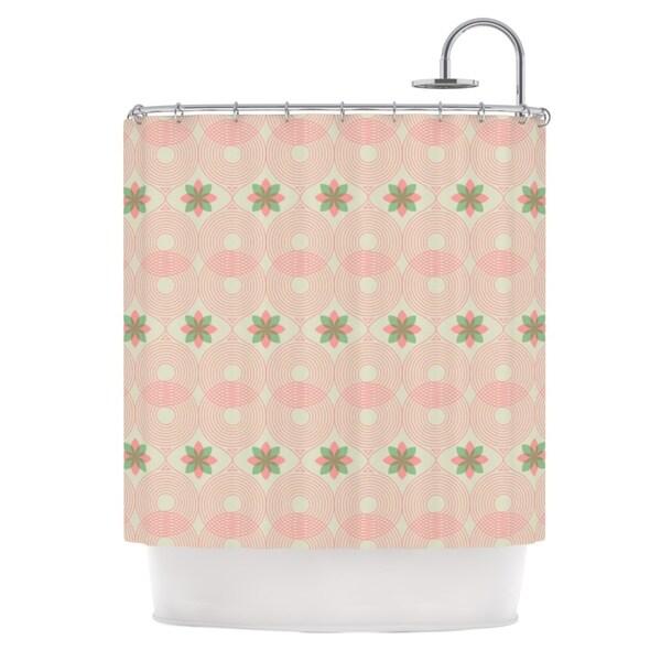 KESS InHouse Deepti Munshaw Pattern #3 Beige Green Shower Curtain (69x70)