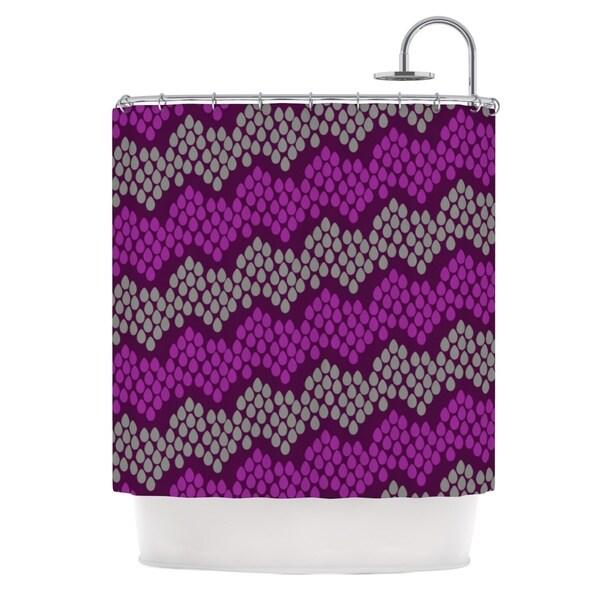 KESS InHouse Deepti Munshaw Pattern #2 Chevron Purple Shower Curtain (69x70)