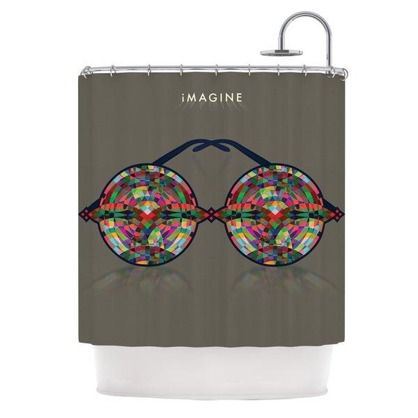 KESS InHouse Deepti Munshaw iMagine Brown Rainbow Shower Curtain (69x70)