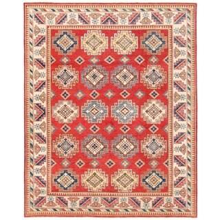 Herat Oriental Afghan Hand-knotted Vegetable Dye Tribal Kazak Wool Rug (8'8 x 10'11)