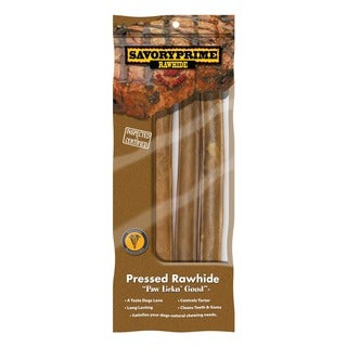 """Savory Prime 10"""" Pressed Roll Dog Chews 3 Count"""