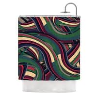 KESS InHouse Danny Ivan Swirl Madness Dark Geometric Shower Curtain (69x70)