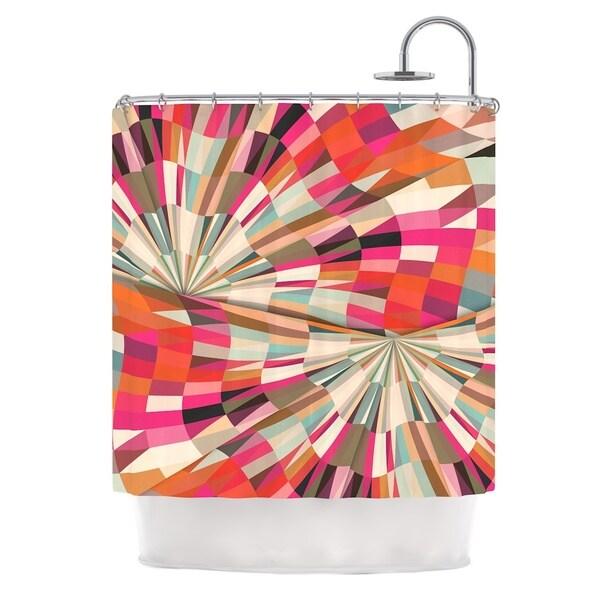 KESS InHouse Danny Ivan Convoke Multicolor Geometric Shower Curtain (69x70)