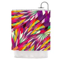 KESS InHouse Danny Ivan Sweet Multicolor Geometric Shower Curtain (69x70)