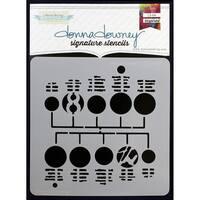 "Donna Downey Signature Stencils 8.5""X8.5"""
