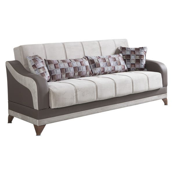 Awe Inspiring Shop Elif Grey Fabric 3 Seater Convertible Sofa Bed Free Cjindustries Chair Design For Home Cjindustriesco