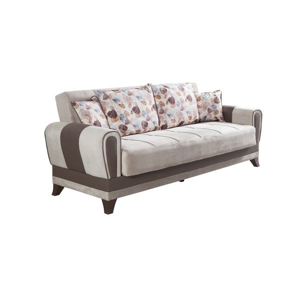 Fabric 3 Seater Convertible Sofa Bed
