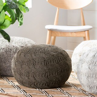 Oslo Round Wool Ottoman Pouf by Christopher Knight Home|https://ak1.ostkcdn.com/images/products/15095304/P21583277.jpg?_ostk_perf_=percv&impolicy=medium