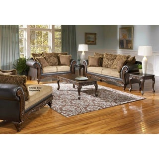 San Antonio Traditional 2-Tone Chocolate Brown Sofa & Loveseat