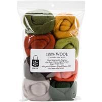 """Wool Roving 12"""" .25oz 8/Pkg"""