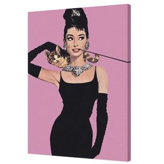 Audrey Hepburn - Pink - 24x36 canvas by Pyramid America