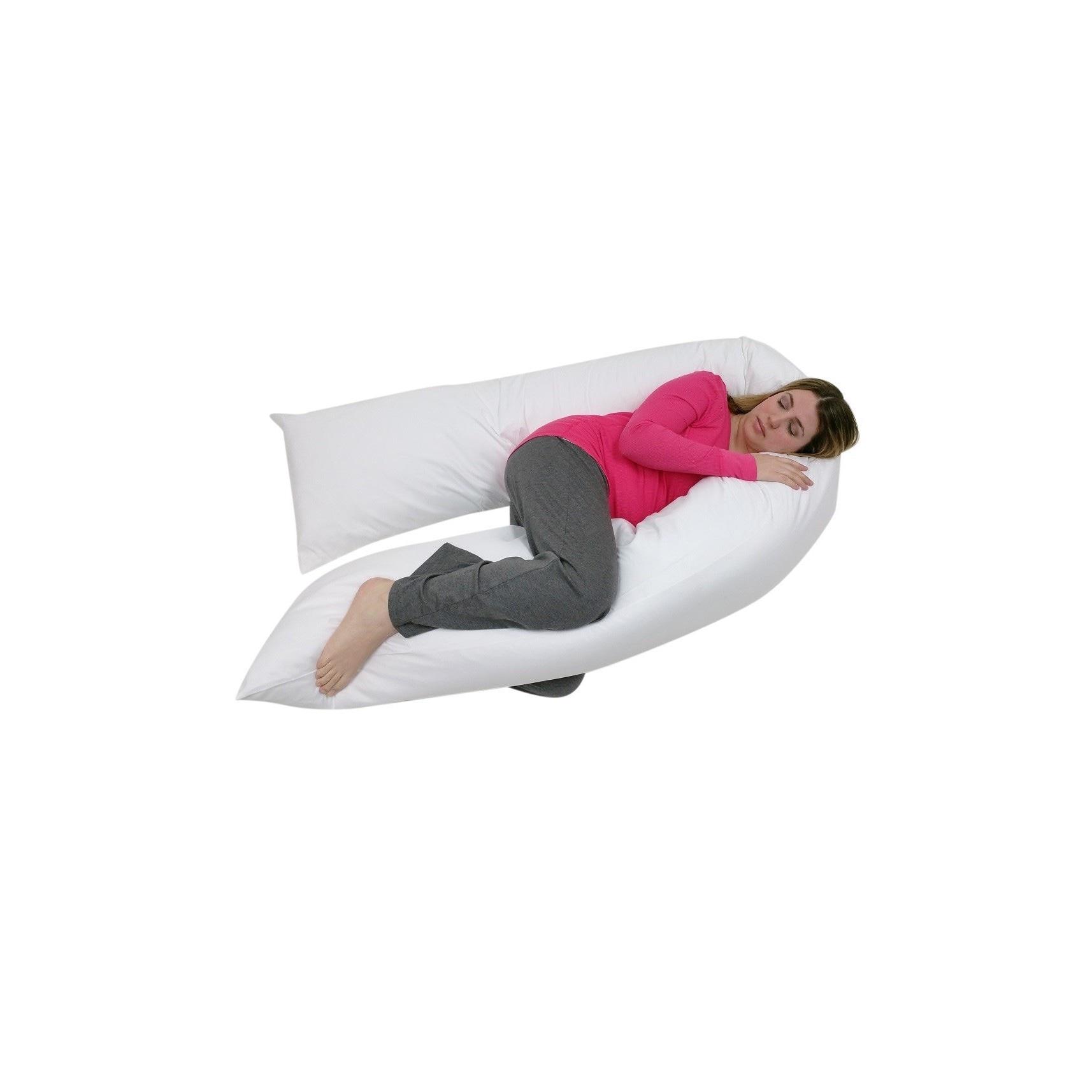 Junior Size Total Body Pregnancy Maternity Pillow (White)...