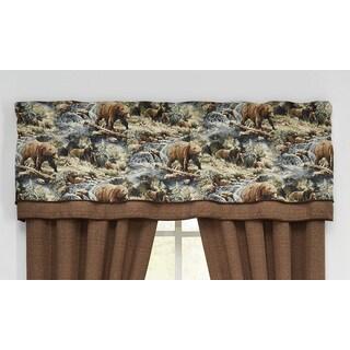 Croscill Kodiak 72 x 20-inch Double Layer Curtain Valance