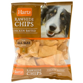 Hartz 1 Lb Chicken Dental Basted Rawhide Chips