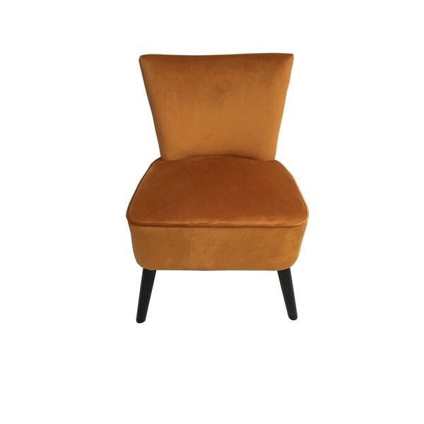 Shop Camry Chair Burnt Orange Mistral Velvet Free