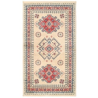 Herat Oriental Afghan Hand-knotted Vegetable Dye Tribal Kazak Wool Rug (2'3 x 3'11)
