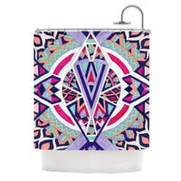 KESS InHouse Pom Graphic Design Abstract Journey Circular Tribal Shower Curtain (69x70)
