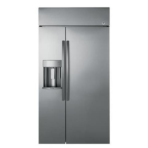 "GE Profile Series 48"" Built-In Side-by-Side Refrigerator with Dispenser"