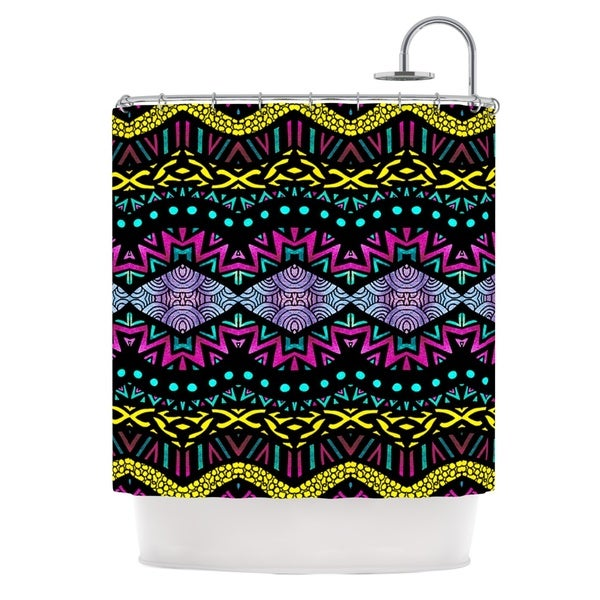 KESS InHouse Pom Graphic Design Tribal Dominance Shower Curtain (69x70)