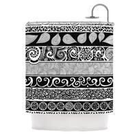 KESS InHouse Pom Graphic Design Tribal Evolution Shower Curtain (69x70)